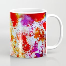 Drawing by a sponge of different shades of paint on the sheet of paper Coffee Mug