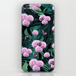 Tropical Peonies Dream #1 #floral #foliage #decor #art #society6 iPhone Skin