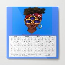 2020 Calendar/ Planner (UK), To Forsee 4C Metal Print