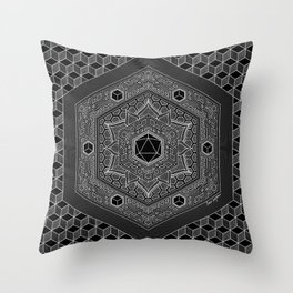 August Mandala 2018 Throw Pillow