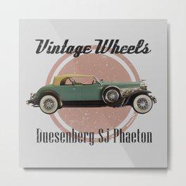 Vintage Wheels: Duesenberg SJ Phaeton Metal Print