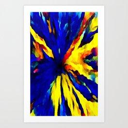 blue yellow Art Print