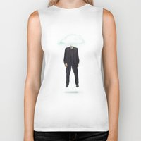 risa rodil Biker Tanks featuring Head in the Cloud by Vin Zzep