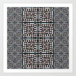 Mosaic Geometric Art Print