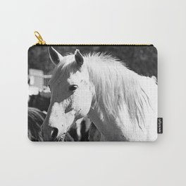 White Horse-B&W Carry-All Pouch