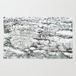 Gray marble watercolor Rug