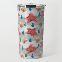 seastars ocean teardrops and shells Travel Mug