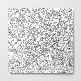 A Doodle a Day Color or Paint Your Own Metal Print
