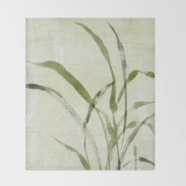beach weeds Throw Blanket