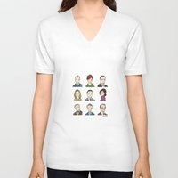 mad men V-neck T-shirts featuring Mad Men by Steven Learmonth
