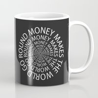 scarface Mugs featuring Money by Text Guy