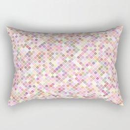 Happy Pastel Square Pattern Rectangular Pillow
