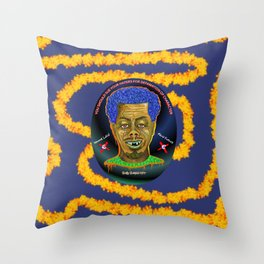 The French Face of Money Throw Pillow