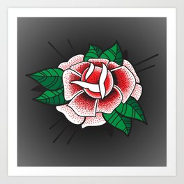 Tattoo Rose Art Print