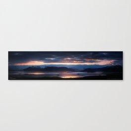 Placid Solitude - Iceland | The Black Beauty Canvas Print