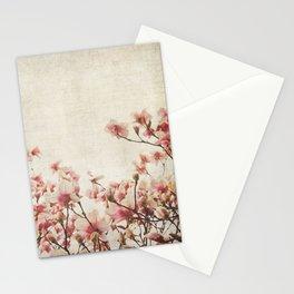 Vintage-Inspired Pink Magnolia Stationery Cards
