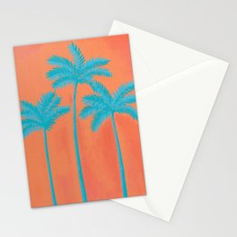Turquoise Palms Stationery Cards