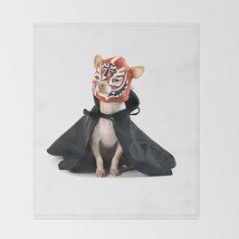 Chihuahua Luchador Throw Blanket