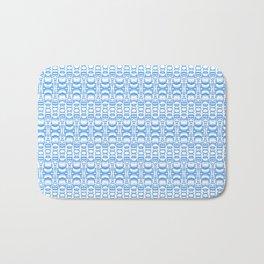 Dividers 07 in Light Blue over White Bath Mat
