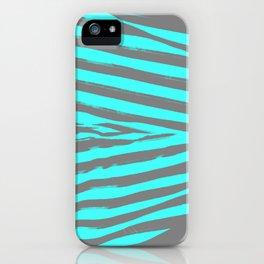 Aqua & Gray Stripes iPhone Case