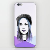 gemma correll iPhone & iPod Skins featuring Gemma by bylosangeles