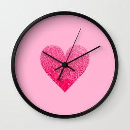 PINK PINK HEART Wall Clock