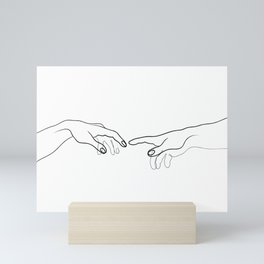 Reaching Out For Human Touch Mini Art Print