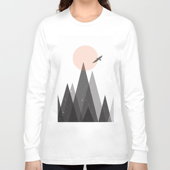 Eagle and mountains Long Sleeve T-shirt