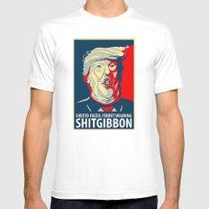 Shitgibbon Trump Mens Fitted Tee MEDIUM White