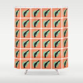 Bang Bang (Peach) Shower Curtain