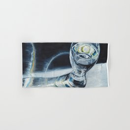 Glass of the water in the light Hand & Bath Towel