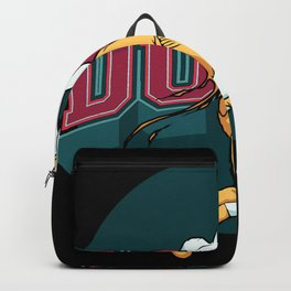 dunk time basketball poster Backpack