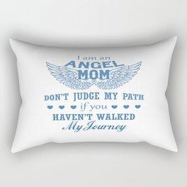 I Am An Angel Mom Rectangular Pillow