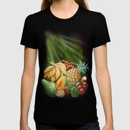 Exotic Fruits Still Life Color Pencils Art T-shirt