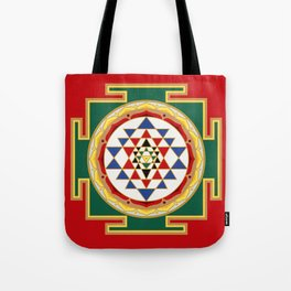 Sri Yantra colored Tote Bag