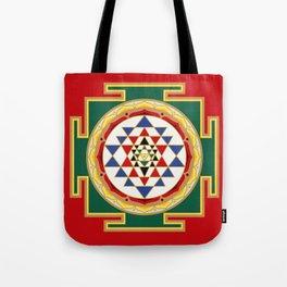 Sri Yantra colored Tote Bag
