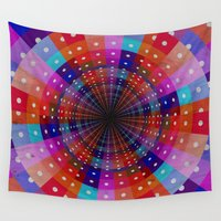 carnival Wall Tapestries featuring Carnival  by Laura Santeler