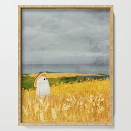 There's a ghost in the wheat field again... Serving Tray
