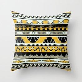 art deco stripes - honey Throw Pillow