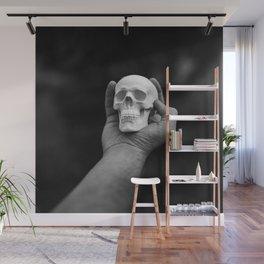 Skull in Hand Wall Mural