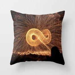 Infinite Fire Spin Throw Pillow