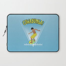 Cowabunga Flow-boarding Pop Art Laptop Sleeve