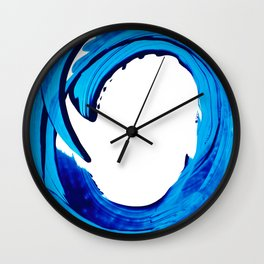 Pure Water 312 - Blue Abstract Art By Sharon Cummings Wall Clock