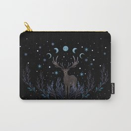 Deer in Winter Night Forest Carry-All Pouch
