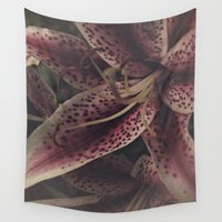 lily Wall Tapestries featuring lily by inourgardentoo