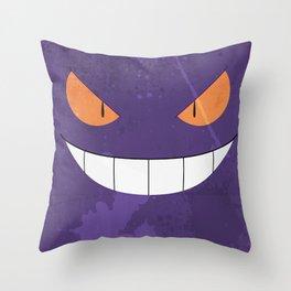 Minimalist Gengar Throw Pillow