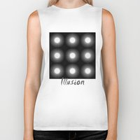 illusion Biker Tanks featuring Illusion by DagmarMarina