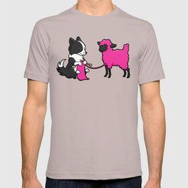 Border Collie Knitting T-shirt