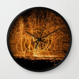 Home made fireworks Wall Clock