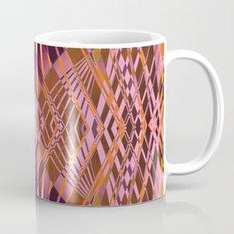 PRETTY VIOLET CORAL YELLOW SWEEPING LINES Coffee Mug